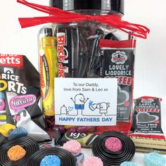 82464215382ac Personalised Fathers Day Liquorice Sweets Treat Jar