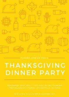 Illustrated Thanksgiving Invitation