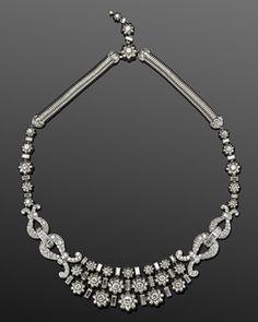 Diamond swirl collar necklace by Mauboussin