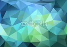 Zdjęcie abstract blue and green low poly background, vector | Plakaty | www.dcngallery.pl
