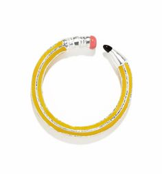 #TSVDAYCOMP Silver And Yellow Write On Pencil Ring