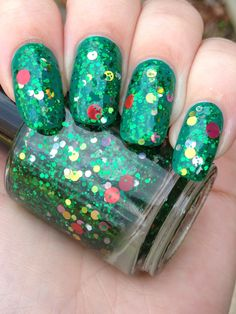 Oh! Christmas Tree by Noodles Nail Polish ($8.75)  Another gorgeous holiday polish.  This glitter bomb is designed to look like a decorated Christmas tree when layered over green!  Or you can mix it up a bit and layer it over a snowy white.