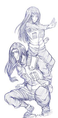 Neji Hyuga x Hinata Hyuga Hinata Hyuga, Neji And Tenten, Naruto E Boruto, Kakashi, Anime Naruto, Naruto Fan Art, Fanart Manga, Manga Art, Manga Anime