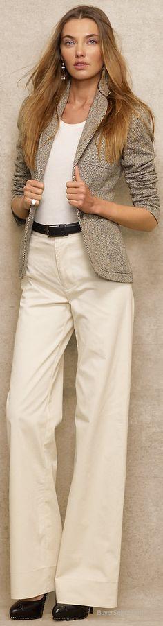Ralph Lauren Blue Label Raw Silk Herringbone Jacket | BuyerSelect.com
