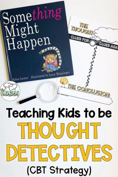 Becoming thought detectives and examining cognitive distortions is such a fun CBT strategy to use with elementary students in individual counseling! Middle School Counselor, Elementary School Counseling, School Social Work, Elementary Schools, Primary School Counselling, Counseling Office, Group Counseling, Primary Education, High Schools