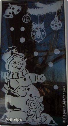 Поделка изделие Новый год Вырезание новогодние окошки 2013 Бумага фото 3
