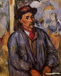 Peasant in a Blue Smock Artwork by Paul Cezanne Hand-painted and Art Prints on canvas for sale,you can custom the size and frame