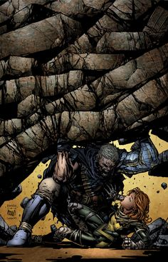 X-Force Vol. 3 # 28 (Variant) by David Finch & Matt Banning Marvel Comics, Hq Marvel, Marvel Comic Books, Comic Book Characters, Marvel Characters, Comic Character, Comic Books Art, Marvel Heroes, X Men