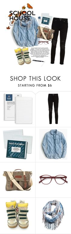 """school"" by nilas ❤ liked on Polyvore featuring AMIRI, J.Crew, Cathy's Concepts, EyeBuyDirect.com, Isabel Marant and Visconti"