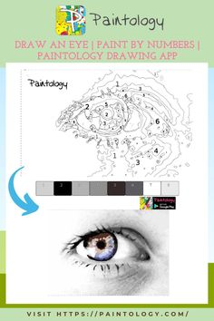 Drawing & coloring a female eye | Paint by numbers with Paintology Let's dive into the eye coloring exercise! Before you can do this exercise, you will need to install the Paintology drawing app available from the Google play store. If you are a beginner, try to start with easier drawings to get more comfortable with the drawing. You will be able to do more complex drawings as you get better. Eventually, you should be able to make your unique drawings! #paintbynumbers #freepaintbynumbers