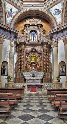 Holy Sepulchre is a church monument of Cagliari, Sardinia, Italy. It is located in the square of the Holy Sepulchre, in the Marina  district, near the church of St. Anthony and the adjacent complex of the former hospital.