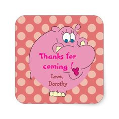 Shop Cute Hippo Pink Polka Dots Party Stickers created by goodmoments. Cute Hippo, Polka Dot Party, Pink Polka Dots, Different Shapes, Custom Stickers, Activities For Kids, Diy Projects, Scrapbook, Make It Yourself