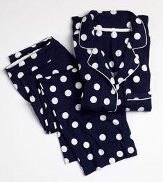 Embraceable Cool Nights Pajamas Joyful Dot Navy - Pajama Tops - Ideas of Pajama Tops Pajamas All Day, Cute Pajamas, Pajama Outfits, Cute Outfits, Night Suit For Women, Night Pajama, Pijamas Women, Cute Sleepwear, Pyjamas