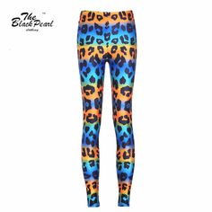 Colored Leopard Digital Print Slim Sports Pants Fitness legging Jeggings  Only $19.99 => Save up to 60% and Free Shipping => Order Now!  #print leggings outfit #dress #Fashion #girl #Digital #sport #yoga
