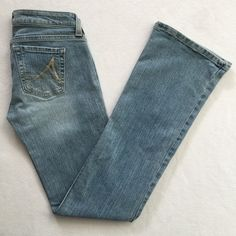 Light Medium Wash Blue Bootcut Denim Jeans 3 3R New, never worn. Light medium wash. Daisy bootcut style from Anchor Blue. There is a size sticker on the leg - it is not a stain. Size 3. NO TRADES. NO HOLDS. Anchor Blue Jeans Boot Cut