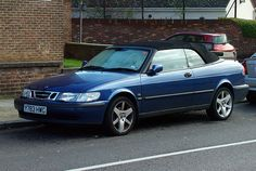 Cool 2001 Saab 9-3 Convertible     This is My car except this one is blue & mine is silver, & that back is raised up a bit higher. I love it ! :)