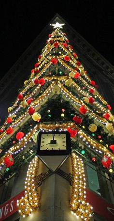 The Christmas Tree on the corner of the old Horne's Department Store