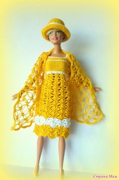 Хочу похвастаться комплектиком сюрпризом  для Барби  Платье и шляпка  С шалькой…