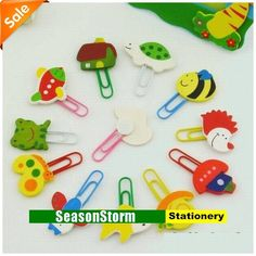 Min Order $20 (mixed order) Retail Cheap Wooden Cartoon Paper Clips Bookmarks Stationery (SP-80) on AliExpress.com. 10% off $0.13