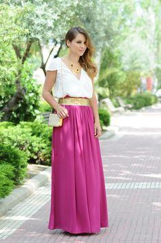 Pink skirt, @necklaceofpearl #joyas #valentinasalerno