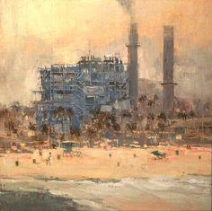 "April Raber  Beach Power, 2015 Oil on linen  12""x12"""