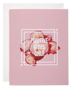Adore the positive statement on this cute pink greeting card.