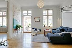 blue color living room design