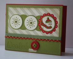 Wonderful Holiday by arinstamps - Cards and Paper Crafts at Splitcoaststampers Stamping Up, Snowman, Paper Crafts, Cool Stuff, Holiday Decor, Simple, Christmas, Cards, Fun