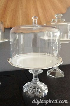 Upcycle some thrift store cheese platters, plates and candlesticks into DIY dessert stands.