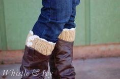 Lacy Boot Cuffs...free pattern