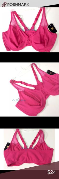 New Wacoal 65124  Front Closure Bra, Body, Pink Wacoal Style 65124  is named Body by Wacoal.  A hard to find front closure bra with a comfortable  t-back.  In Fuchia Pink. 💕Simply select your size 💕      Seamless, unlined double-layer molded underwire cups Close-set, adjustable straps for sleeveless attire Secure barrel front closure Low center front Mesh window detail above cups Constructed of moisture-wicking fabric SUPPLEX fabric gives you the look and feel of cotton with the benefits…
