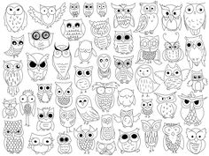 Owl Doodles by The Crafty Frugaler Owl Doodle, Doodle Art, Coloring Books, Coloring Pages, Doodles, Pet Rocks, Owl Art, Doodle Drawings, Art Lessons
