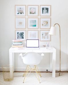 """On the hunt for new office inspiration and I am in love with the prints above the desk in this @smpliving space!! #SMPLoves #officedecor #inspiration…"""