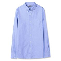 Topten10 Unisex Modern Blue Solid Formal Oxford Buttondown Cotton Dress Shirts #Topten10