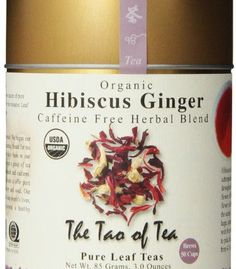 Handcrafted blend of Hibiscus flower petals and dried ginger. Caffeine free.