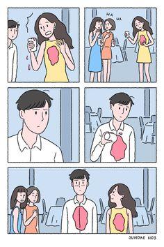 Verrückte Liebe – My Favorite Pins Cute Couple Comics, Cute Couple Cartoon, Cute Couple Art, Cute Love Cartoons, Cute Cartoon, Comics Love, Couples Comics, Funny Couples, Sundae Kids