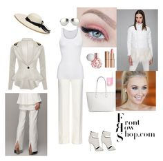 """""""Queen in white"""" by azra-2709 ❤ liked on Polyvore featuring Front Row Shop, Diane Von Furstenberg, American Vintage, Giuseppe Zanotti, Linda Farrow, Sensi Studio and Charlotte Tilbury"""