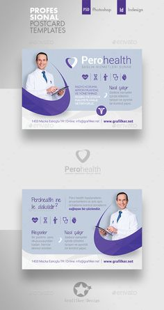 Buy Health Application Postcard Templates by grafilker on GraphicRiver. Graphic Design Brochure, Brochure Layout, Postcard Template, Postcard Design, Packaging Design Inspiration, Web Design Inspiration, Banner Design, Flyer Design, Social Design