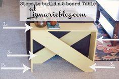 DIY 5 Board End Table -