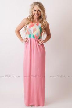 Kaleidoscope Dreams Maxi Dress in Pink