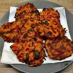 Homemade Pumpkin-Beet Pancakes...pumpkin, beet, himalayan salt, pumpkin seeds, olive oil, egg, egg white, garlic