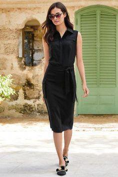 1148711d0dc Buy Black Utility Tie Waist Dress from the Next UK online shop