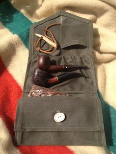 Waxed Canvas Large Tobacco Wallet w/Belt Loops from Lucky 1-2