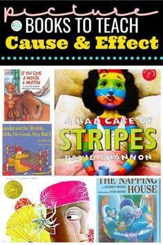 This article contains a list of picture books to teach the reading skill of cause and effect to students in first grade, second grade, and third grade. This list of best picture books for cause and effect contains fiction and nonfiction titles. This list of cause and effect books is also good for upper elementary as well.