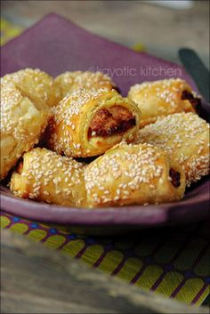 Curried Chicken Puffs