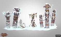 Totems set for the north orc location by mmx-v.deviantart.com on @DeviantArt