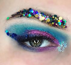 """Reposting @glittergirl.au: I'm in love with this look from @allyvesta - """"Hangover"""" cause who doesn't wake up in a glittery mess after a long night on the town? #glittergirltribe #glitter #makeupoftheday - - - @glittergirl.au in Mardi Gras, Light Pink, Sapphire Skies and Glitter Liner in Fancy Bluebell + the Unicorn Glitter Palette in the inner corner. - - - #glittermakeup  #glitterbrow  #mua #makeupjunkie #goldcoast #cheerforlife #beauty #glitter #glittergirltribe #makeup  #glittery"""