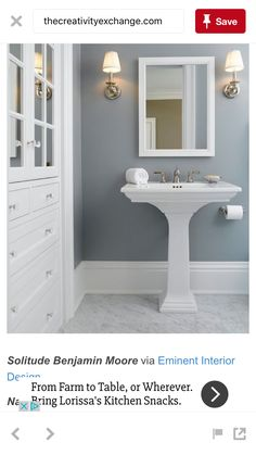 Ooh the cabinet and drawers!! In the bathroom!!!