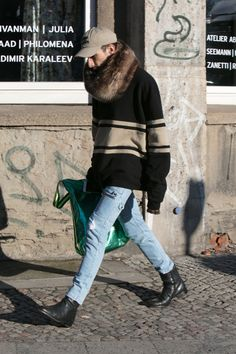 Street style at Berlin Fashion Week.