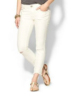 Free People Mid Rise Destroyed Ankle Skinny Jean | Piperlime